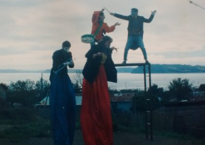 Pasacalles e intervenciones teatrales -isla de Chiloe